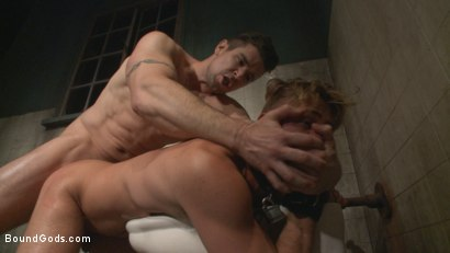 Photo number 4 from Captured Stud Mummified, Beaten, Fucked and Humiliated shot for Bound Gods on Kink.com. Featuring Trenton Ducati and Wesley Woods in hardcore BDSM & Fetish porn.