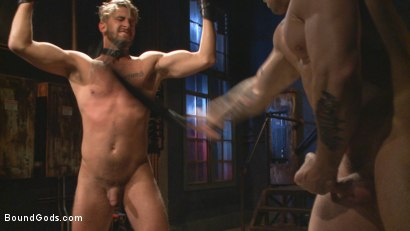 Photo number 5 from Captured Stud Mummified, Beaten, Fucked and Humiliated shot for Bound Gods on Kink.com. Featuring Trenton Ducati and Wesley Woods in hardcore BDSM & Fetish porn.