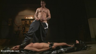 Photo number 3 from Captured Stud Mummified, Beaten, Fucked and Humiliated shot for Bound Gods on Kink.com. Featuring Trenton Ducati and Wesley Woods in hardcore BDSM & Fetish porn.