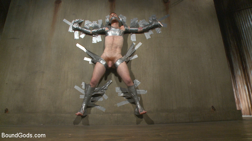 Duct taped bondage