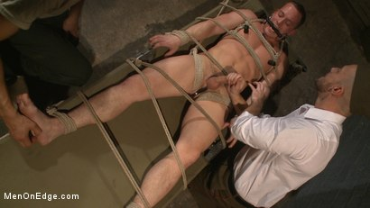 Photo number 11 from Straight Soldier Edged by His Commanding Officers shot for Men On Edge on Kink.com. Featuring Tommy Regan in hardcore BDSM & Fetish porn.