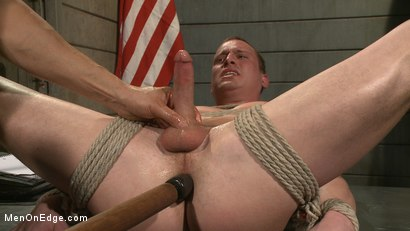 Photo number 14 from Straight Soldier Edged by His Commanding Officers shot for Men On Edge on Kink.com. Featuring Tommy Regan in hardcore BDSM & Fetish porn.