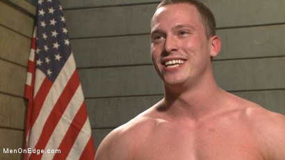 Photo number 15 from Straight Soldier Edged by His Commanding Officers shot for Men On Edge on Kink.com. Featuring Tommy Regan in hardcore BDSM & Fetish porn.