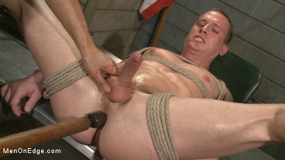Photo number 5 from Straight Soldier Edged by His Commanding Officers shot for Men On Edge on Kink.com. Featuring Tommy Regan in hardcore BDSM & Fetish porn.