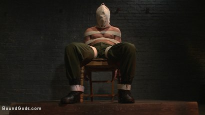Photo number 1 from Enhanced Interrogation: Detained Stud Faces a Horny, Sadistic Agent shot for Bound Gods on Kink.com. Featuring Tommy Regan and Damien Michaels in hardcore BDSM & Fetish porn.