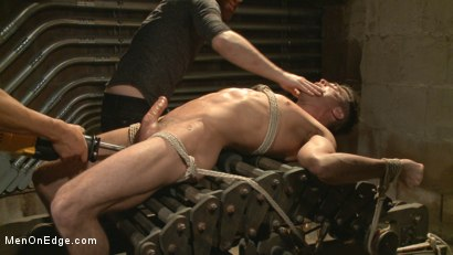 Photo number 11 from Taken from His Girlfriend and Edged in a Dark Factory shot for Men On Edge on Kink.com. Featuring Lance Hart in hardcore BDSM & Fetish porn.