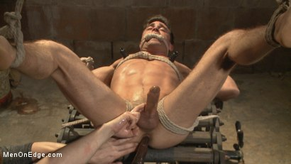 Photo number 14 from Taken from His Girlfriend and Edged in a Dark Factory shot for Men On Edge on Kink.com. Featuring Lance Hart in hardcore BDSM & Fetish porn.