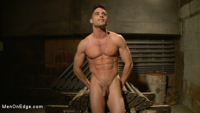 Photo number 15 from Taken from His Girlfriend and Edged in a Dark Factory shot for Men On Edge on Kink.com. Featuring Lance Hart in hardcore BDSM & Fetish porn.