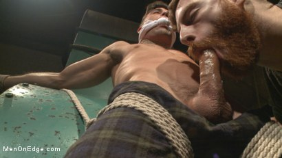 Photo number 3 from Taken from His Girlfriend and Edged in a Dark Factory shot for Men On Edge on Kink.com. Featuring Lance Hart in hardcore BDSM & Fetish porn.