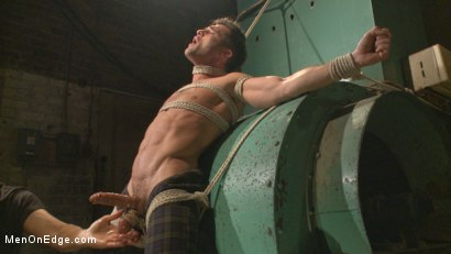 Photo number 4 from Taken from His Girlfriend and Edged in a Dark Factory shot for Men On Edge on Kink.com. Featuring Lance Hart in hardcore BDSM & Fetish porn.