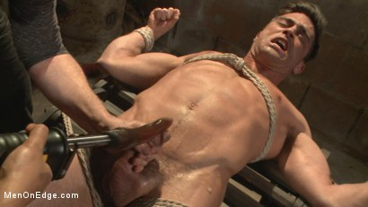 Photo number 10 from Taken from His Girlfriend and Edged in a Dark Factory shot for Men On Edge on Kink.com. Featuring Lance Hart in hardcore BDSM & Fetish porn.