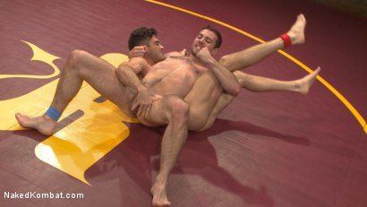 Photo number 4 from Lance Hart vs. Dylan Knight: Loser Gets a Wicked Wedgie and a Rough Fuck shot for Naked Kombat on Kink.com. Featuring Lance Hart and Dylan Knight in hardcore BDSM & Fetish porn.