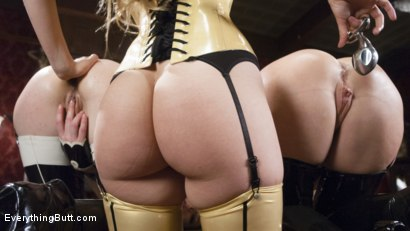 Photo number 3 from Beautiful Lyra Louvel puts her hand and feet in in submissives shot for Everything Butt on Kink.com. Featuring Dee Williams, Lyra Law and Juliette March in hardcore BDSM & Fetish porn.