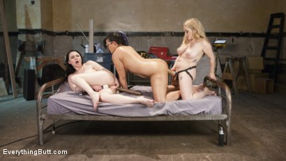 Photo number 14 from From Carpenters to Lesbians, Aiden Starr makes a lot of things shot for Everything Butt on Kink.com. Featuring Penny Barber, Veruca James and Aiden Starr in hardcore BDSM & Fetish porn.