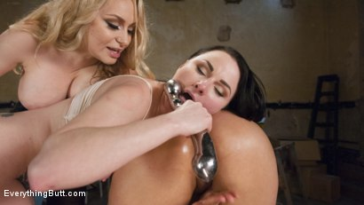 Photo number 5 from From Carpenters to Lesbians, Aiden Starr makes a lot of things shot for Everything Butt on Kink.com. Featuring Penny Barber, Veruca James and Aiden Starr in hardcore BDSM & Fetish porn.
