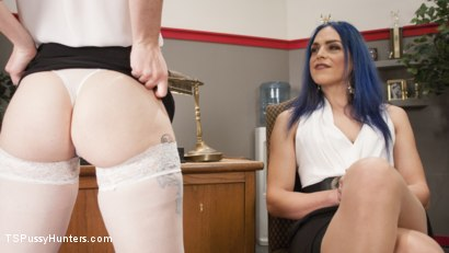 Photo number 2 from Barbary Rose will do Anything for a Loan.  shot for TS Pussy Hunters on Kink.com. Featuring Kelli Lox and Barbary Rose in hardcore BDSM & Fetish porn.
