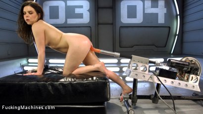 Photo number 5 from Tiny Flirt Gets All Her Holes Stuffed By Fast Fucking Machines shot for Fucking Machines on Kink.com. Featuring Juliette March in hardcore BDSM & Fetish porn.