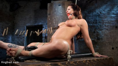 Photo number 11 from Pain Slut Suffers with a Smile in Brutal Bondage shot for hogtied on Kink.com. Featuring Holly Heart and The Pope in hardcore BDSM & Fetish porn.