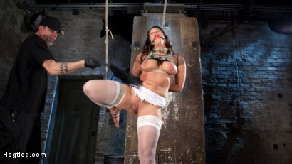 Photo number 14 from Pain Slut Suffers with a Smile in Brutal Bondage shot for hogtied on Kink.com. Featuring Holly Heart and The Pope in hardcore BDSM & Fetish porn.