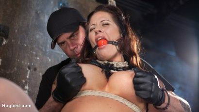 Photo number 15 from Pain Slut Suffers with a Smile in Brutal Bondage shot for Hogtied on Kink.com. Featuring Holly Heart and The Pope in hardcore BDSM & Fetish porn.