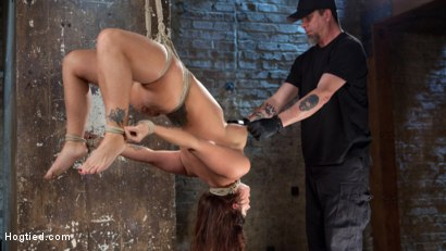 Photo number 10 from Pain Slut Suffers with a Smile in Brutal Bondage shot for Hogtied on Kink.com. Featuring Holly Heart and The Pope in hardcore BDSM & Fetish porn.