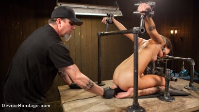 """Photo number 13 from Fresh Meat - Kacie Castle in """"She Will Scream, They All Scream!"""" shot for Device Bondage on Kink.com. Featuring Kacie Castle and The Pope in hardcore BDSM & Fetish porn."""