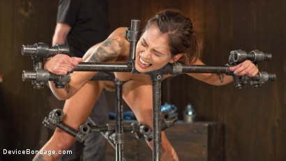 """Photo number 14 from Fresh Meat - Kacie Castle in """"She Will Scream, They All Scream!"""" shot for Device Bondage on Kink.com. Featuring Kacie Castle and The Pope in hardcore BDSM & Fetish porn."""