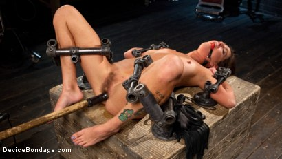 """Photo number 3 from Fresh Meat - Kacie Castle in """"She Will Scream, They All Scream!"""" shot for Device Bondage on Kink.com. Featuring Kacie Castle and The Pope in hardcore BDSM & Fetish porn."""