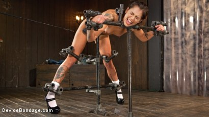 """Photo number 8 from Fresh Meat - Kacie Castle in """"She Will Scream, They All Scream!"""" shot for Device Bondage on Kink.com. Featuring Kacie Castle and The Pope in hardcore BDSM & Fetish porn."""