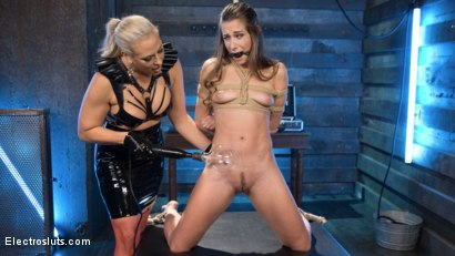 Photo number 2 from Buxome Blonde Elextrosexes Horny Little Slut shot for Electro Sluts on Kink.com. Featuring Angel Allwood and Cassidy Klein in hardcore BDSM & Fetish porn.