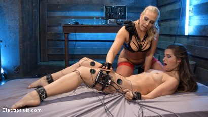 Photo number 8 from Buxome Blonde Elextrosexes Horny Little Slut shot for Electro Sluts on Kink.com. Featuring Angel Allwood and Cassidy Klein in hardcore BDSM & Fetish porn.