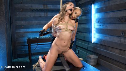 Photo number 4 from Buxome Blonde Elextrosexes Horny Little Slut shot for Electro Sluts on Kink.com. Featuring Angel Allwood and Cassidy Klein in hardcore BDSM & Fetish porn.