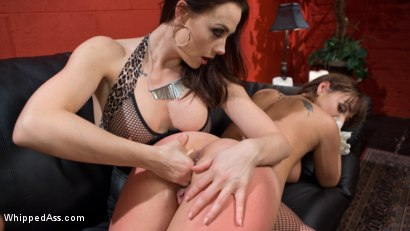 Photo number 2 from The Fan Girl: Lesbian slut bound, spanked, and strap-on fucked! shot for Whipped Ass on Kink.com. Featuring Chanel Preston and Charlotte Cross in hardcore BDSM & Fetish porn.