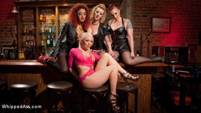 Photo number 1 from Dyke Bar 2: Lorelei Lee Devoured by Hot Horny Lesbians! shot for Whipped Ass on Kink.com. Featuring Daisy Ducati, Mistress Kara, Lorelei Lee and Cherry Torn in hardcore BDSM & Fetish porn.