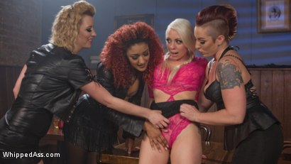 Photo number 4 from Dyke Bar 2: Lorelei Lee Devoured by Hot Horny Lesbians! shot for Whipped Ass on Kink.com. Featuring Daisy Ducati, Mistress Kara, Lorelei Lee and Cherry Torn in hardcore BDSM & Fetish porn.
