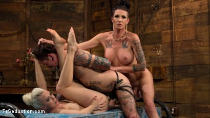 Photo number 18 from Cocky Playboy Shamed & Dominated in Wild Two on One Threesome! shot for TS Seduction on Kink.com. Featuring Ryan Patrix, Lorelei Lee and Morgan Bailey in hardcore BDSM & Fetish porn.