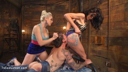 Photo number 4 from Cocky Playboy Shamed & Dominated in Wild Two on One Threesome! shot for TS Seduction on Kink.com. Featuring Ryan Patrix, Lorelei Lee and Morgan Bailey in hardcore BDSM & Fetish porn.