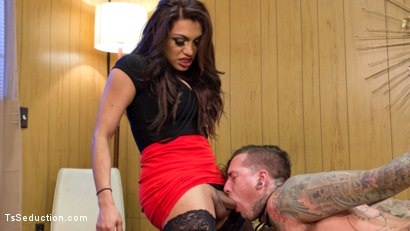 Photo number 4 from Jessy Dubai Cleans Up Pervert Custodian shot for TS Seduction on Kink.com. Featuring Jessy Dubai and Ruckus in hardcore BDSM & Fetish porn.