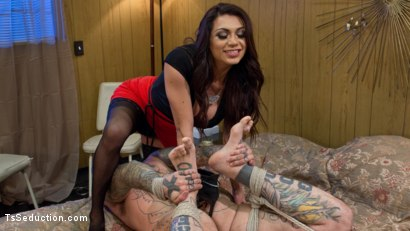 Photo number 1 from Jessy Dubai Cleans Up Pervert Custodian shot for TS Seduction on Kink.com. Featuring Jessy Dubai  and Ruckus in hardcore BDSM & Fetish porn.