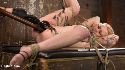 Photo number 15 from Blonde Pain Slut in Brutal Bondage and Suffering Grueling Punishment shot for Hogtied on Kink.com. Featuring Anna Tyler and The Pope in hardcore BDSM & Fetish porn.