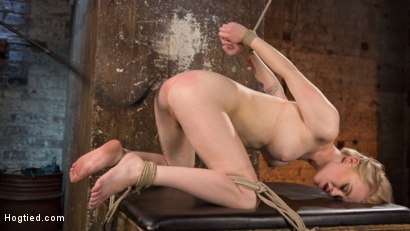 Photo number 16 from Blonde Pain Slut in Brutal Bondage and Suffering Grueling Punishment shot for Hogtied on Kink.com. Featuring Anna Tyler and The Pope in hardcore BDSM & Fetish porn.