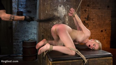 Photo number 3 from Blonde Pain Slut in Brutal Bondage and Suffering Grueling Punishment shot for Hogtied on Kink.com. Featuring Anna Tyler and The Pope in hardcore BDSM & Fetish porn.