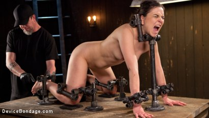 Photo number 11 from More Than She Can Handle shot for devicebondage on Kink.com. Featuring Juliette March and The Pope in hardcore BDSM & Fetish porn.
