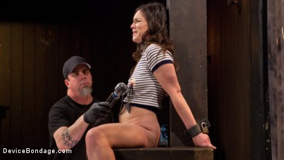 Photo number 5 from More Than She Can Handle shot for devicebondage on Kink.com. Featuring Juliette March and The Pope in hardcore BDSM & Fetish porn.