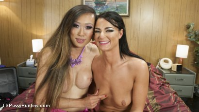 Photo number 1 from Strippers work on moves together and fuck each other's brains out shot for TS Pussy Hunters on Kink.com. Featuring London River and Venus Lux in hardcore BDSM & Fetish porn.