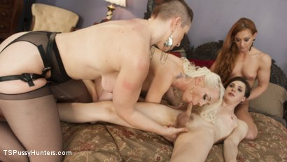 Photo number 12 from TS Stefani Special Caught in a a Love Triangle and Gang Banged  shot for TS Pussy Hunters on Kink.com. Featuring Lorelei Lee, Cheyenne Jewel, Mistress Kara and Stefani Special in hardcore BDSM & Fetish porn.