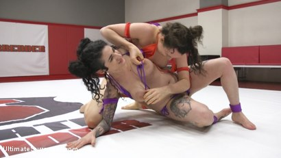 Photo number 1 from Rookie Cup Tournament. Rookie is Destroyed  shot for Ultimate Surrender on Kink.com. Featuring Arabelle Raphael and Lilith Luxe in hardcore BDSM & Fetish porn.
