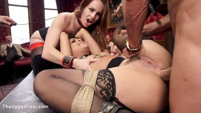 Photo number 8 from Tiny 18 Year Old Anal Slave Double Stuffed shot for The Upper Floor on Kink.com. Featuring Holly Hendrix, Bella Rossi and Marco Banderas in hardcore BDSM & Fetish porn.