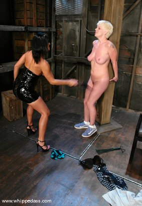 Photo number 3 from Missy Monroe and Sandra Romain shot for Whipped Ass on Kink.com. Featuring Sandra Romain and Missy Monroe in hardcore BDSM & Fetish porn.