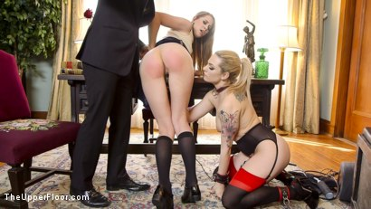 Photo number 12 from Tax Day: The Slave and The Bad Girl's Anal Punishment  shot for The Upper Floor on Kink.com. Featuring Dahlia Sky, Zoey Laine and Axel Aces in hardcore BDSM & Fetish porn.